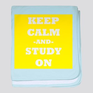 Keep Calm And Study On (Yellow) baby blanket