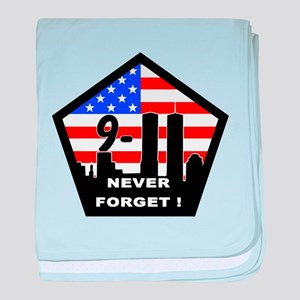 911 never forget baby blanket