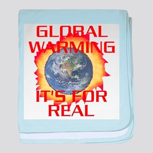 Global Warming Its for Real baby blanket