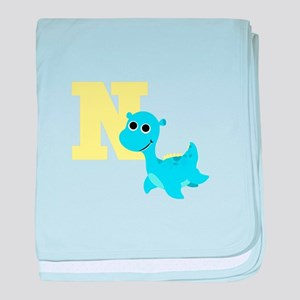 N is for Nessie baby blanket