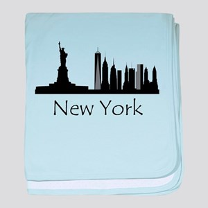 New York City Cityscape baby blanket