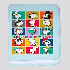 Snoopy-You Can Be Anything baby blanket