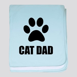Cat Dad Paw baby blanket