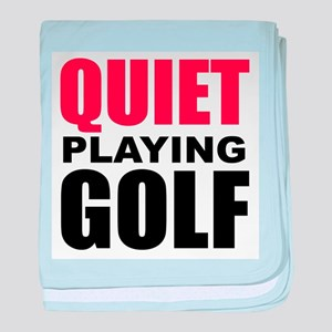 Quiet Playing Golf baby blanket