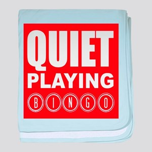 Quiet Playing Bingo baby blanket