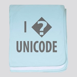I Love Unicode baby blanket