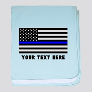 Thin Blue Line Flag baby blanket