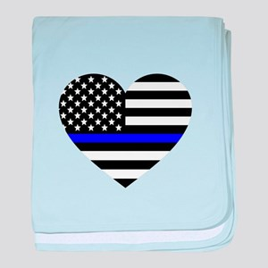 Thin Blue Line Love baby blanket