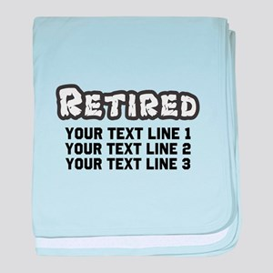 Retirement Text Personalized baby blanket