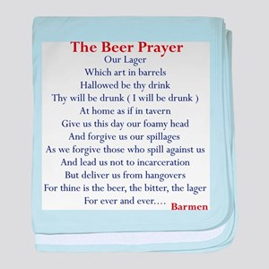 Beer Prayer Infant Blanket