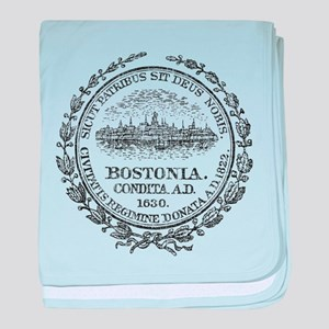 Vintage Boston Seal baby blanket