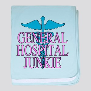 General Hospital Junkie baby blanket