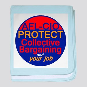 Collective Bargaining baby blanket