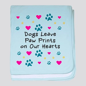 Dogs Leave Paw Prints baby blanket