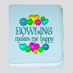 Bowling Happiness baby blanket