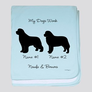 Newf and Berner baby blanket