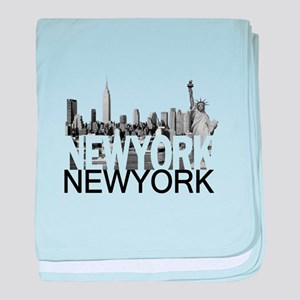 New York Skyline baby blanket