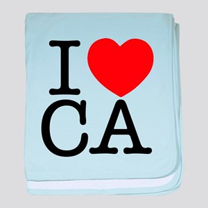 I Heart California baby blanket