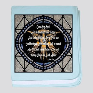 Come Holy Spirit Prayer Mosaic baby blanket