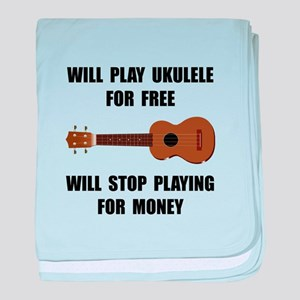 Ukulele Playing baby blanket