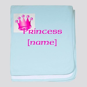 Personlized Princess baby blanket
