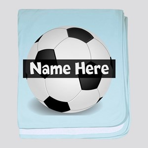 Personalized Soccer Ball baby blanket