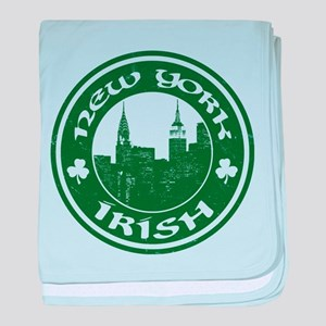 New York Irish American baby blanket