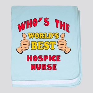 World's Best Hospice Nurse (Thumbs Up) baby blanke