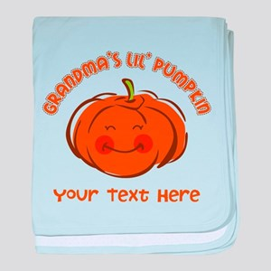Grandma's Little Pumpkin Personalized baby blanket