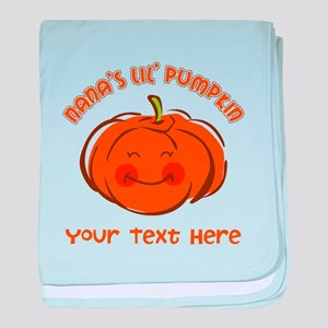 Nana's Little Pumpkin Personalized baby blanket