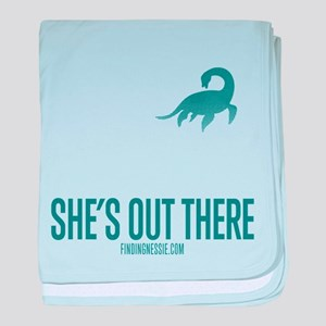 Loch Ness Monster - She's Out There baby blanket