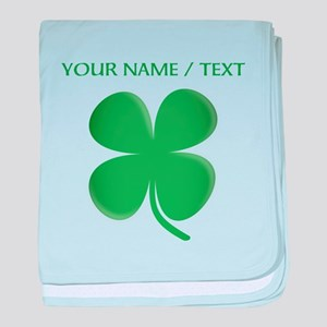 Custom Green Four Leaf Clover baby blanket