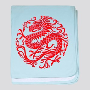 Traditional Chinese Dragon Circle baby blanket
