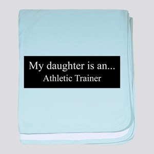 Daughter - Athletic Trainer baby blanket