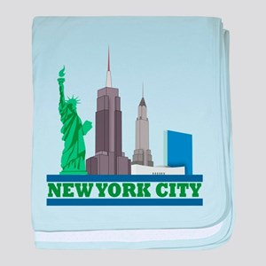 New York City Skyline baby blanket