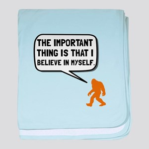Bigfoot Believe In Myself baby blanket