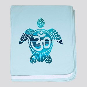 Ohm Turtle baby blanket