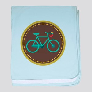 Bicycle Circle baby blanket