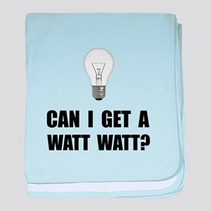 Watt Watt Light Bulb baby blanket