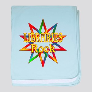 Libraries Rock baby blanket