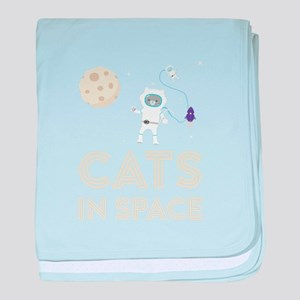 Cats in Space Ctfb7 baby blanket