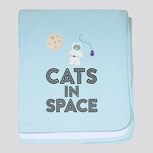 Cats in Space C268b baby blanket