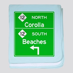 Outer Banks Route 12 Sign baby blanket