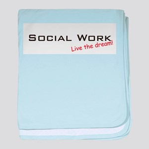 Social Work / Dream! baby blanket