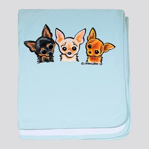 3 Smooth Chihuaha baby blanket