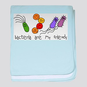 Bacteria are My Friends baby blanket