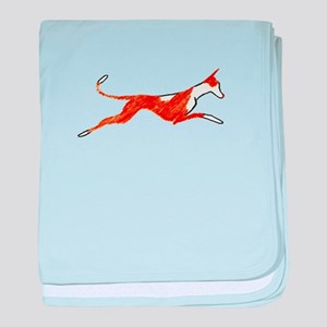 Leaping Ibizan Hound baby blanket