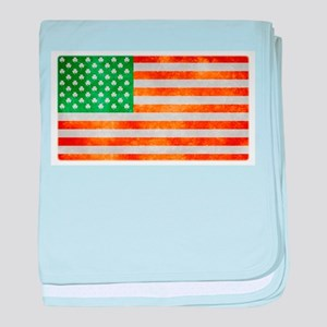 Irish American Flag baby blanket