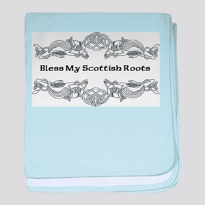 """Bless My Scottish Roots"" baby blanket"