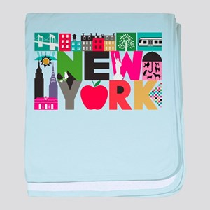 Unique New York - Block by Block baby blanket